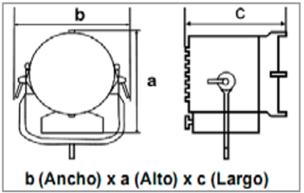 ARRI V-Mount Battery Plate for Skypanel S30 & S60-medidas