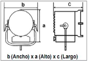 ARRILUX 21-50 Minisun-medidas