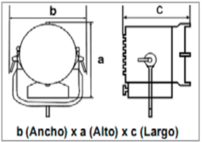Asimetrico 4x1250W - Cyclight 4x1250W-esquema