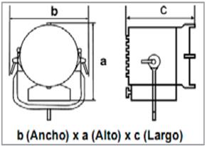 Dedolight 3xDLH4 Kit Dinamic Dimmer-medidas