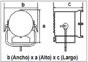 LED ARRI L10-C-medidas