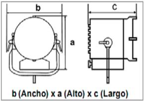 LED ARRI L5-C-medidas