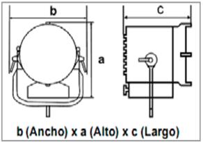 LuZero 500-1000W Lantern-Springball-medidas