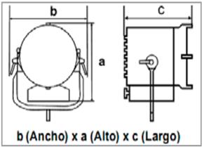 ParFect 150™ FW RGBW, Zoom 3,8° – 60°-medidas