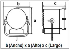 Xenotech Britelight 7kW-medidas